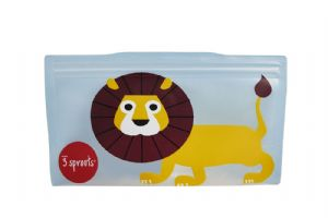 3 Sprouts Reusable Snack Bag - Lion